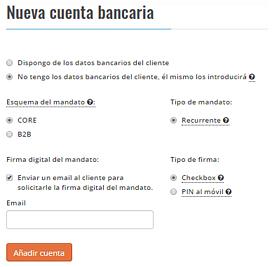 Cuenta bancaria cliente Besepa