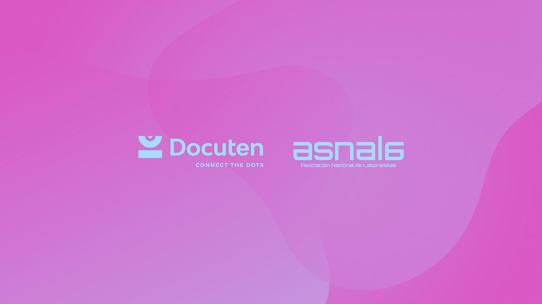 """ASNALA y Docuten firman un convenio de colaboración y organizan un """"Encuentro ASNALA"""" sobre certificación digital"""