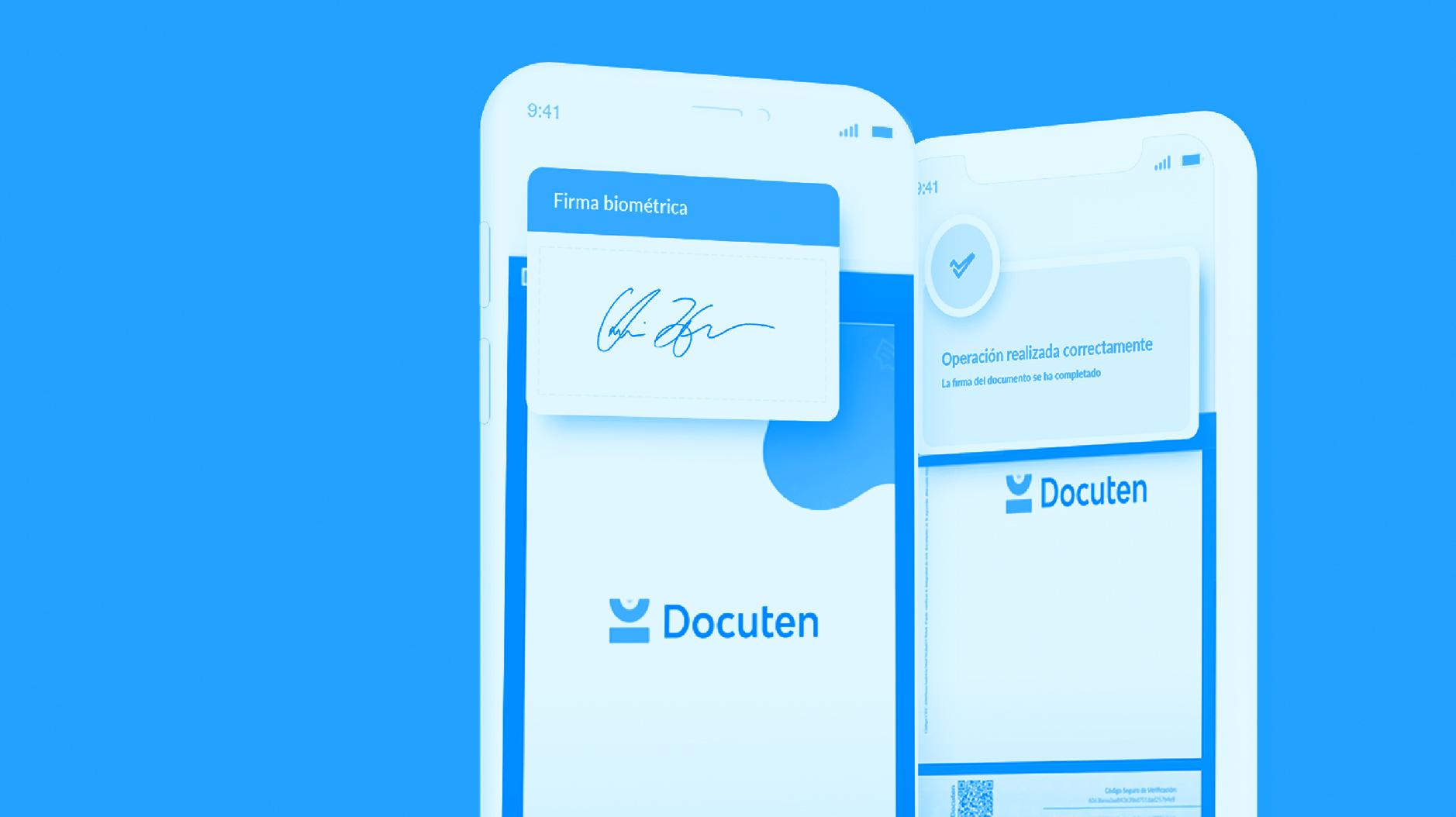 Firma biométrica en Docuten: segura, confidencial, legal y fácil de usar