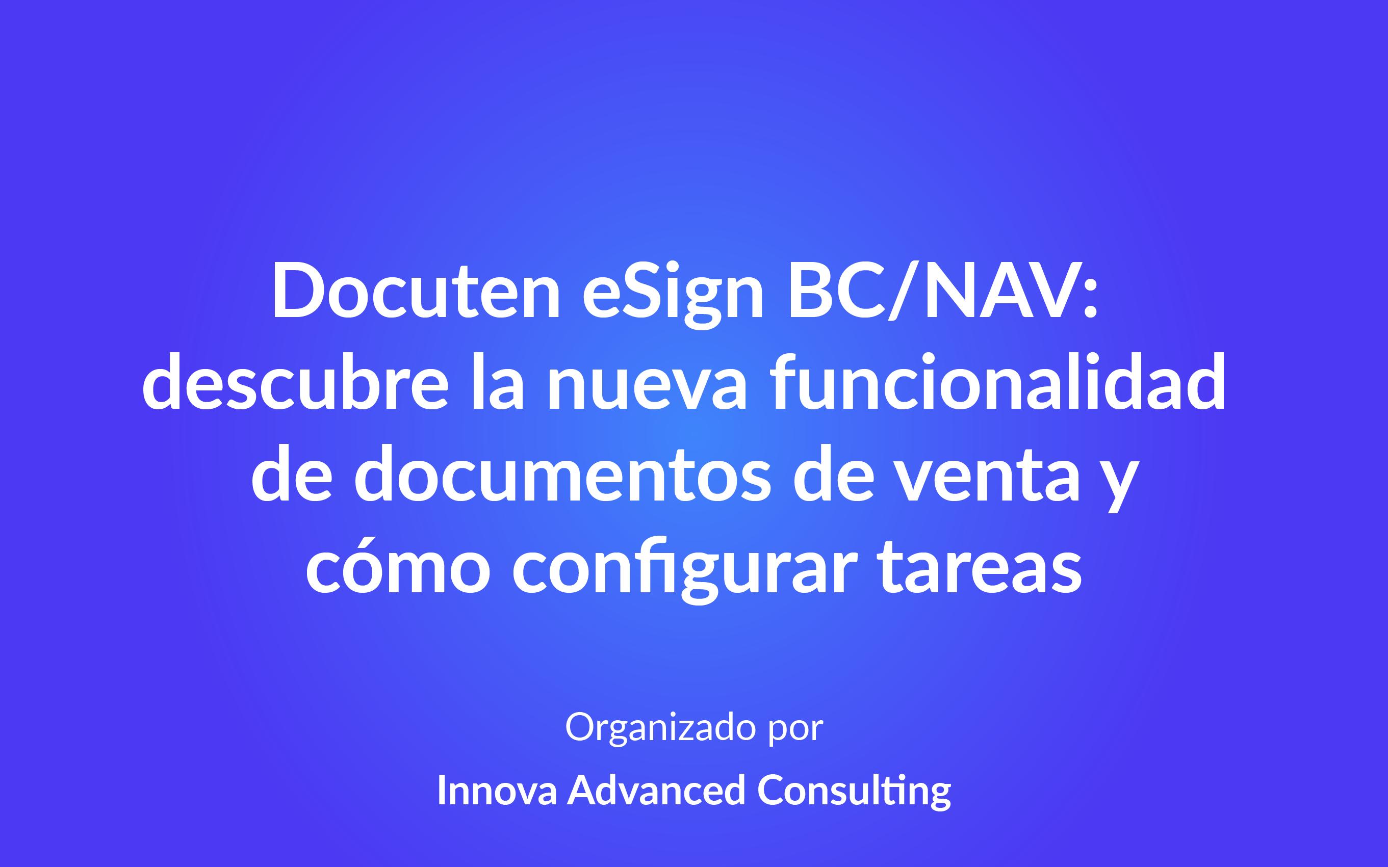 Docuten eSign BC/NAV