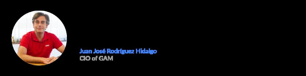 Juan José Rodríguez Hidalgo, CIO of GAM
